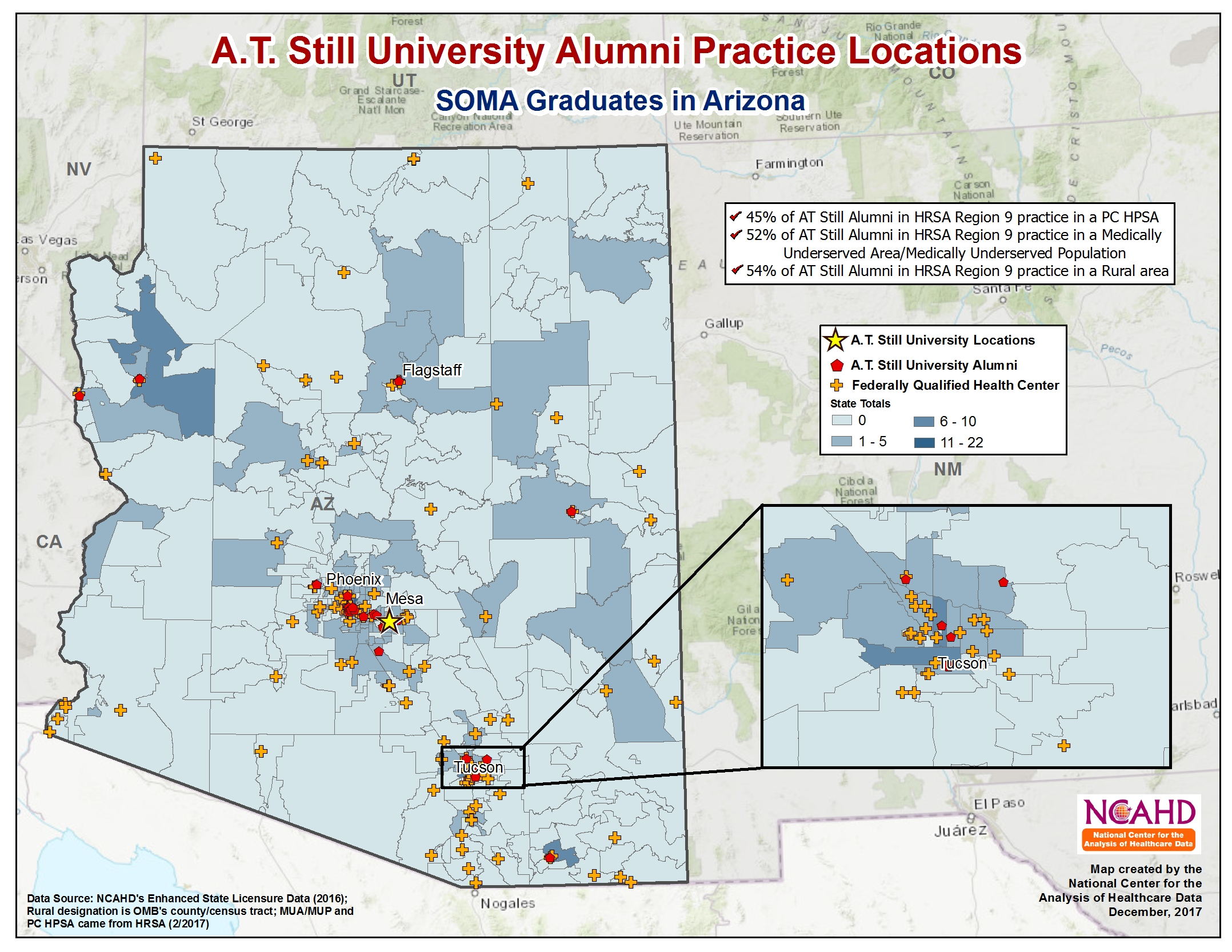 AT Still National Alumni Pracitce Locations Arizona SOMA
