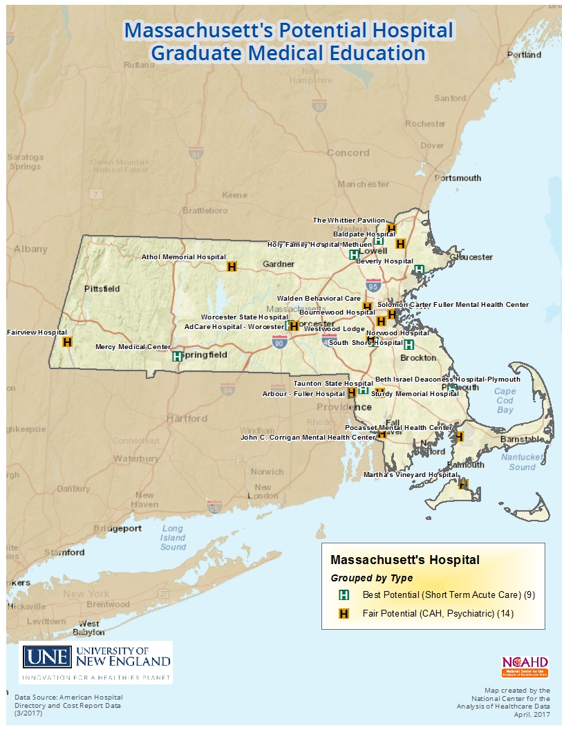 Massachusett high potential hospitals