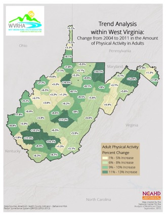 Trend Analysis within West Virginia: Change from 2004 to 2011 in the Amount of Physical Activity in Adults